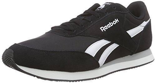 Reebok Royal Cl Jogger 2, Sneakers Uomo, Nero (Black/White/Baseball Grey), 41 EU