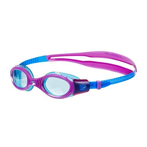Speedo Fut Biof Fseal Dual Gog Ju Occhialini da Nuoto, Bambino, Newsurf/Purplevibe/Peppermint Taglia Unica