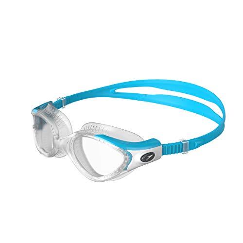Speedo Futura Biofuse Flexiseal Occhialini da Nuoto, Donna, Blu (Turquoise/Clear) Taglia Unica