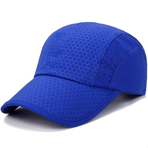 Sport cap,Soft Brim Lightweight Waterproof Running Hat Breathable Baseball Cap Quick Dry Sport Caps Cooling Portable Sun Hats for Men and Woman Performance Cloth Workouts and Outdoor Activities Blue