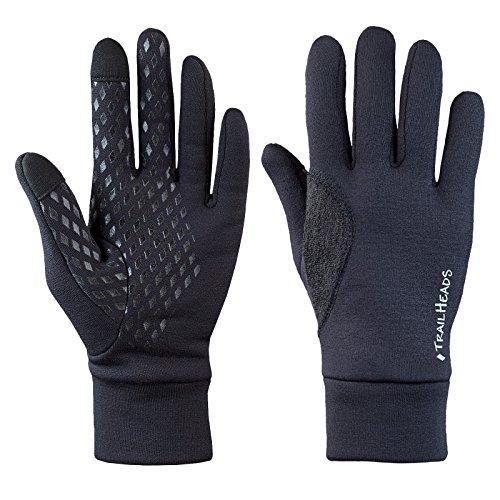 TrailHeads Power Stretch, guanti da running da uomo in tessuto elastico, adatti per l'uso di schermi touch, Uomo, M