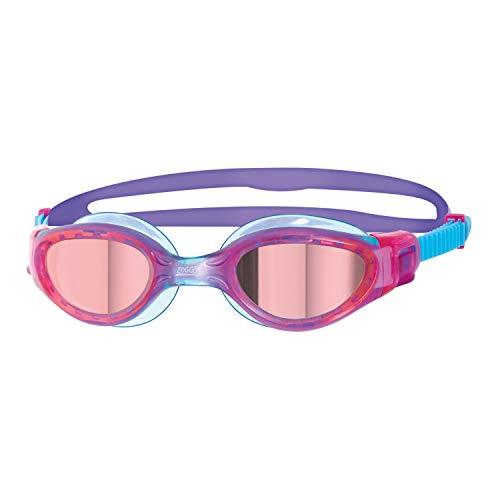 Zoggs Phantom Elite - Occhialini da Nuoto Unisex, Occhialini da Nuoto, 312591, Rosa/Viola/Specchio, 6-14 Anni