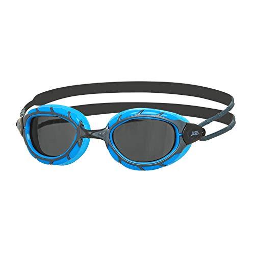 Zoggs Predator Small, Occhialini da Nuoto Unisex-Adulto, Blu/Nero/Fumo, S